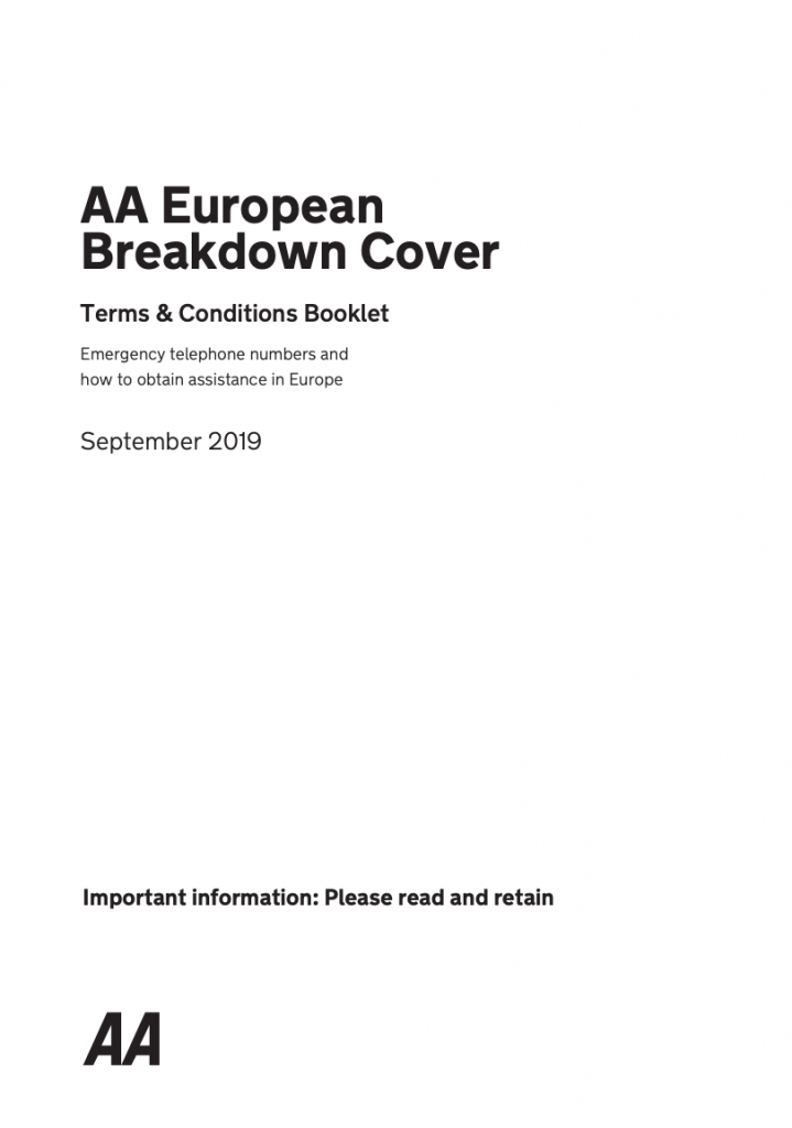 aa european breakdown cover